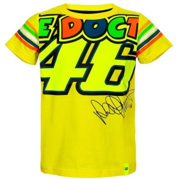 VR46 T'shirts Kids stripes Yellow