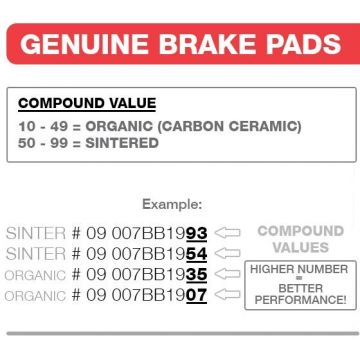 07YA1407 BRAKE PADS ORGANIC GENUINE