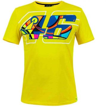 VR46 T'shirt Helmet Yellow